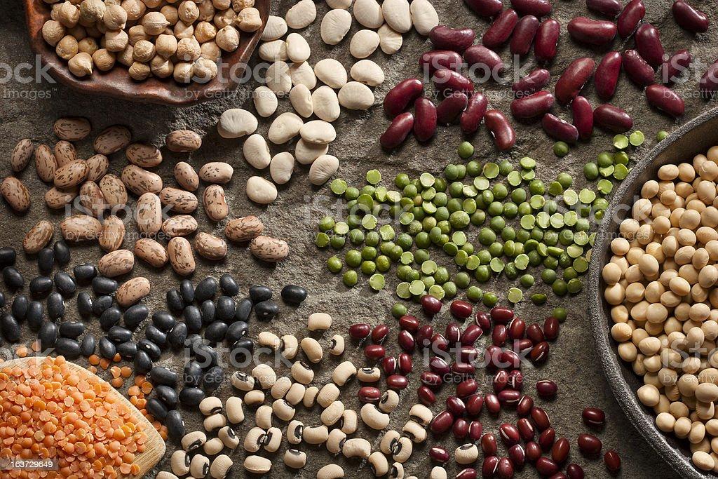 Organic Legumes stock photo