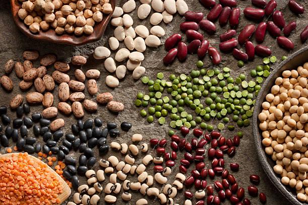 organic legumes - fasulye stok fotoğraflar ve resimler