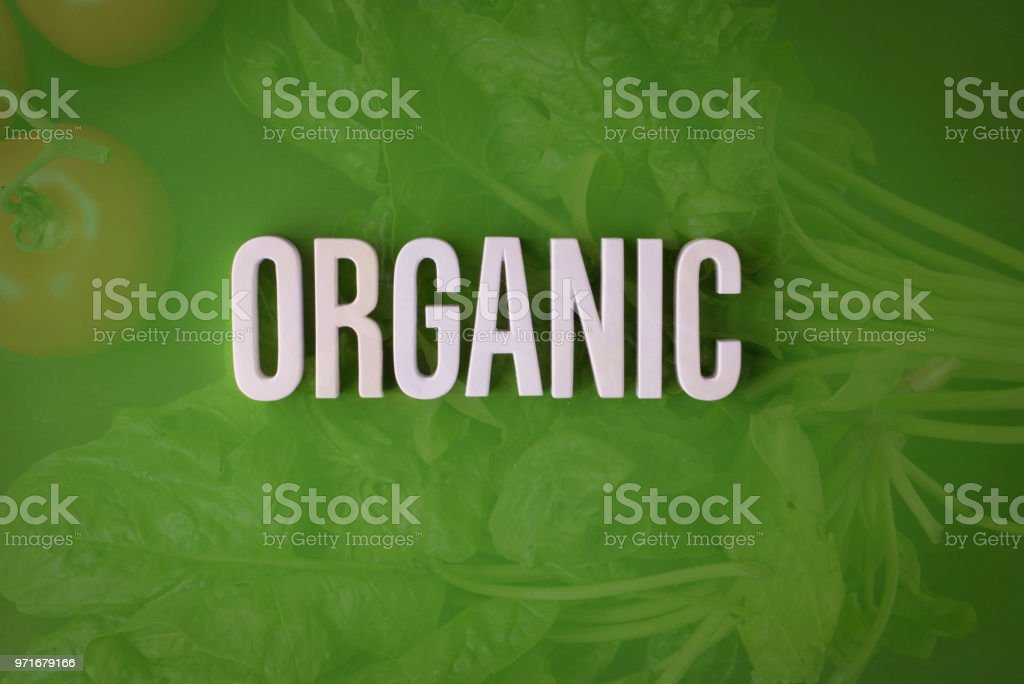 Organic lettering sign stock photo
