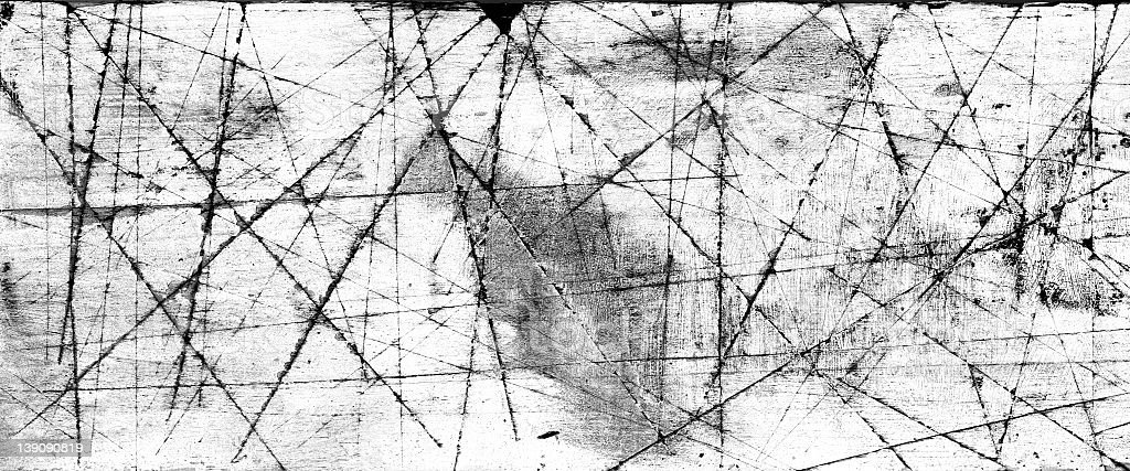 organic lines etched on wood using Lithography INk royalty-free stock photo