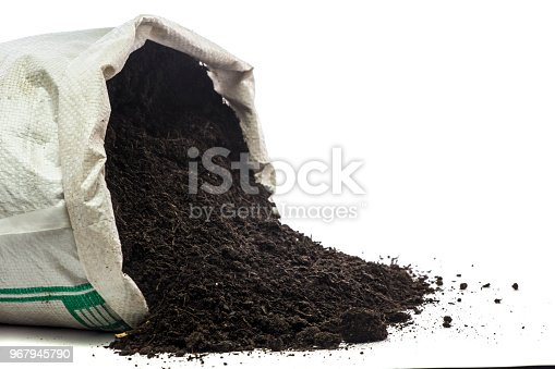 Organic manure in the sack