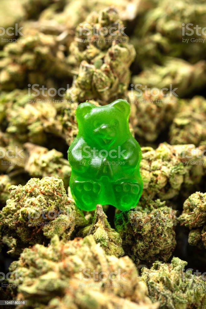 Bio Marihuana grünen Gummibärchen Bonbons – Foto
