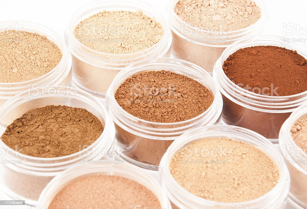 Organic Mineral Makeup stock photo