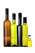 Vinegar bottle icons set. Simple illustration of 9 vinegar bottle icons for web