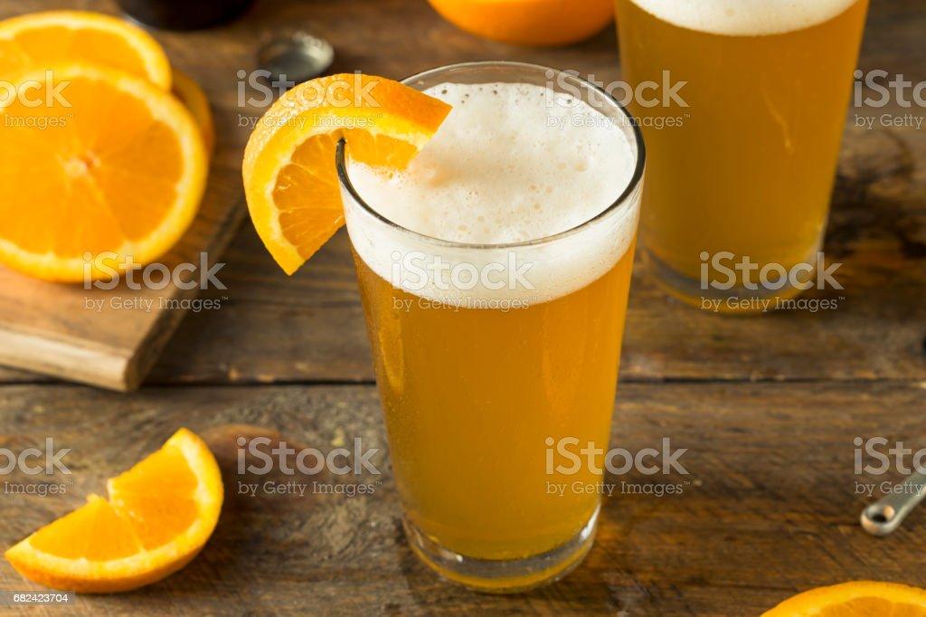 Organic Orange Citrus Craft Beer royalty-free stock photo