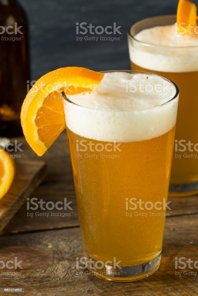 Organic Orange Citrus Craft Beer royalty-free stock photo