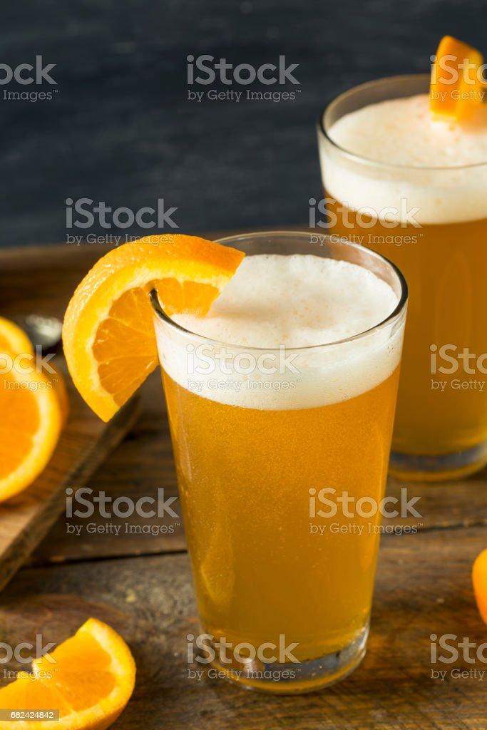 Organic Orange Citrus Craft Beer photo libre de droits