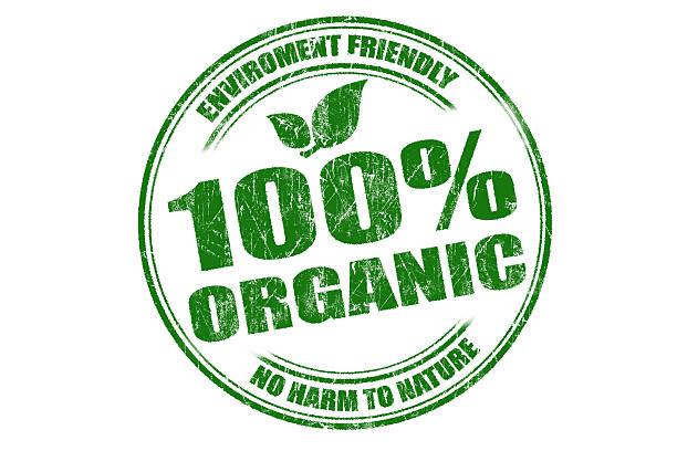 100% bio-baumwolle - matheblatt etiketten stock-fotos und bilder