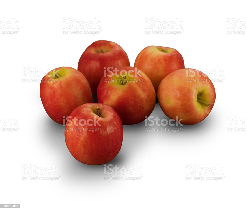 Organic Pink Cripp Apple stock photo