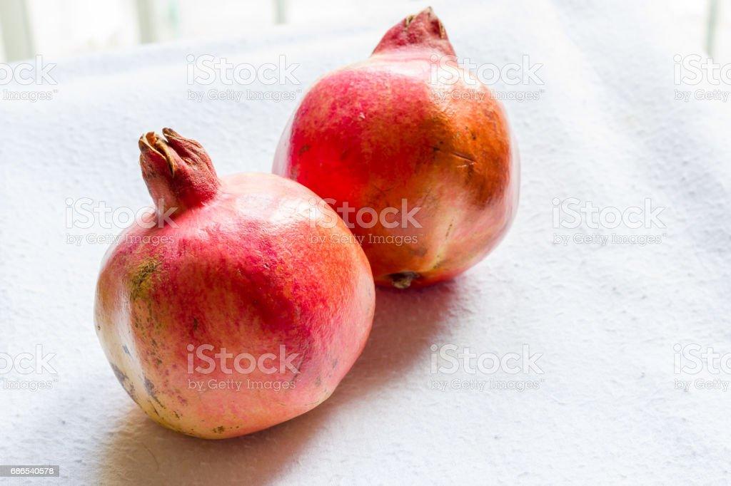 Biologische granaatappel royalty free stockfoto