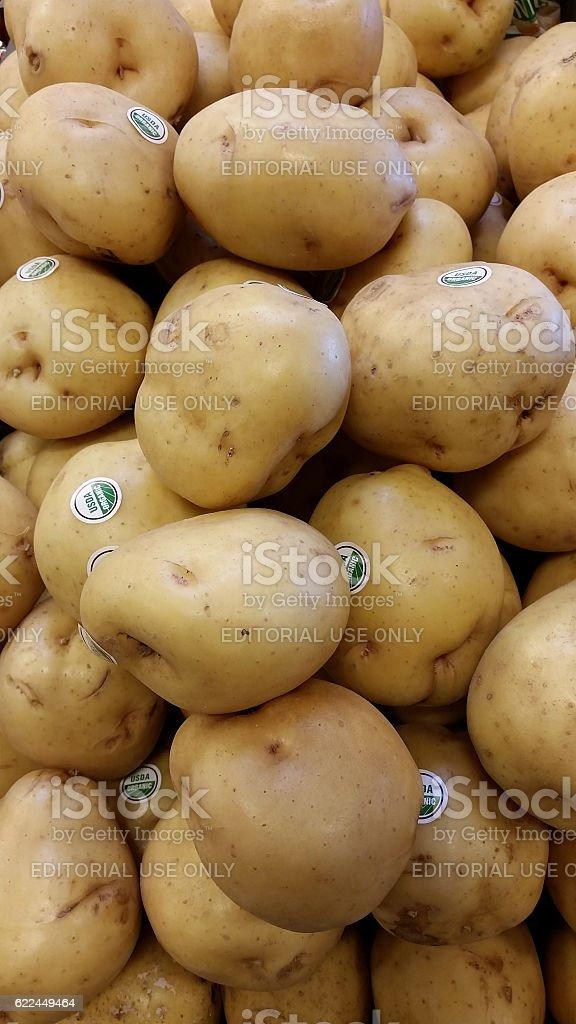 USDA organic potatos stock photo