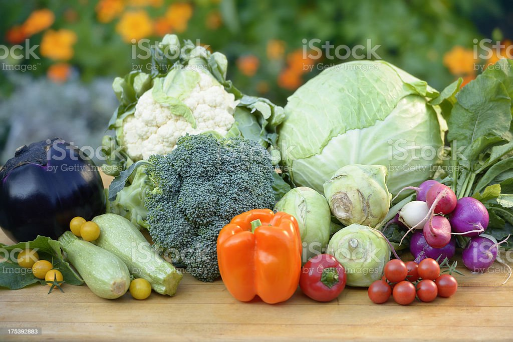 Organic Produce - from garden to table royalty-free stock photo