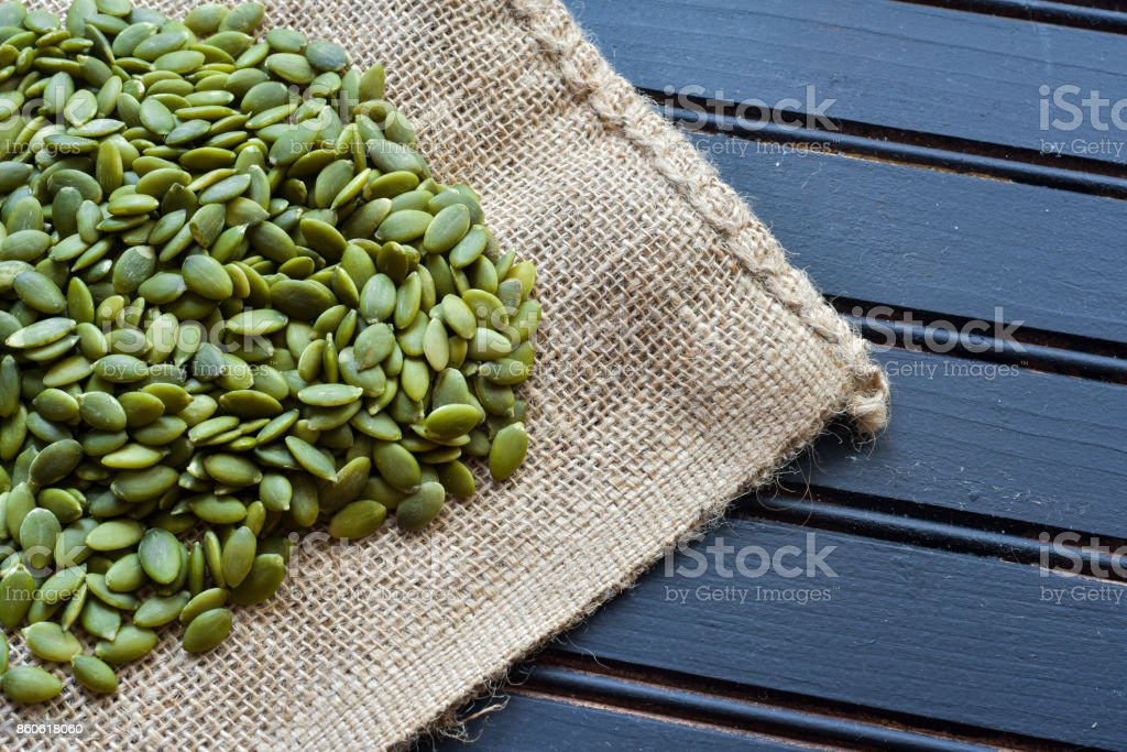 Organic Pumpkin Seeds stock photo