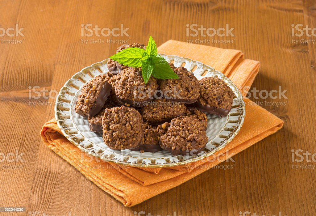 Organic Quinoa Chocolate Cookies stock photo
