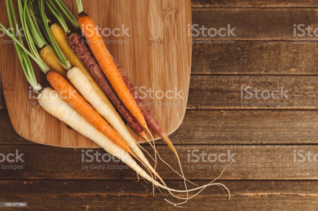 organic rainbow carrots royalty-free stock photo