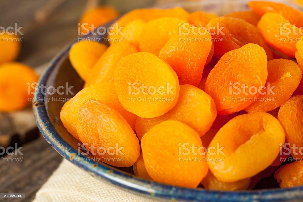 Organic Raw Dry Apricots - Photo