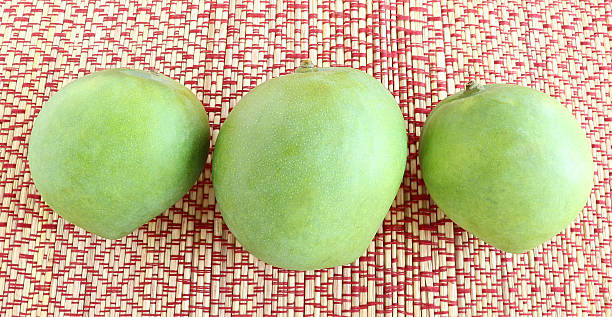 Organic Raw Mangoes stock photo