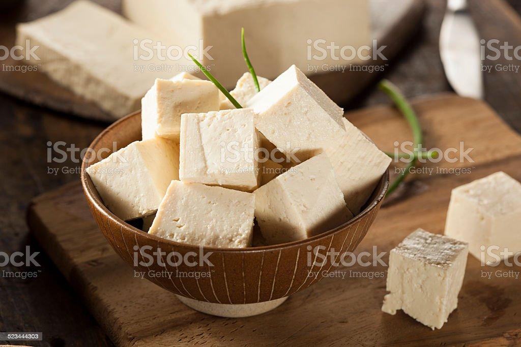 Organic Raw Soy Tofu stock photo