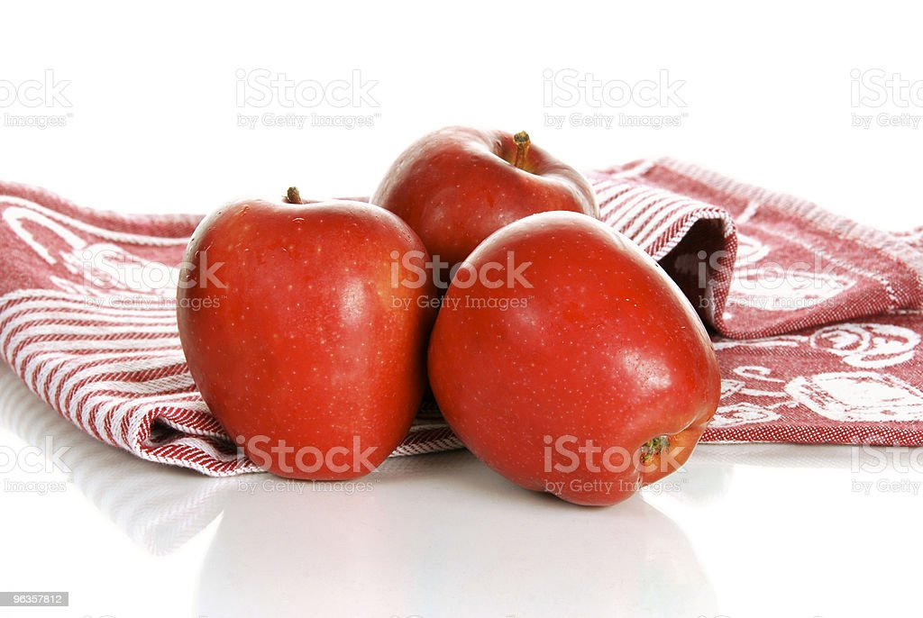 Organic Red Apples royalty-free stock photo