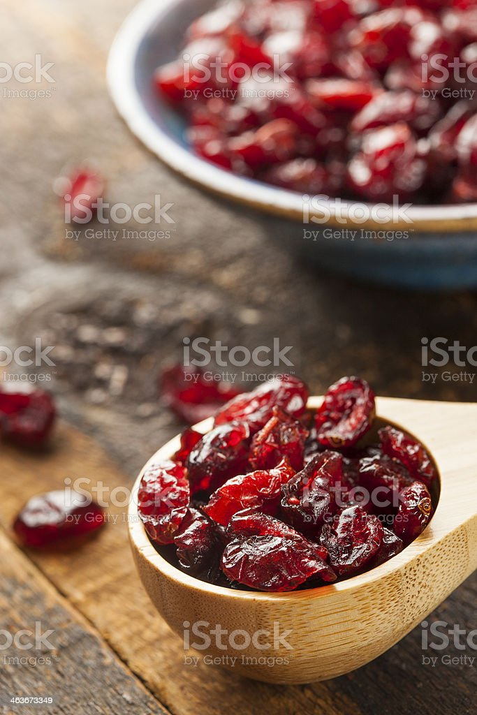 Organic Red Dried Cranberries stock photo