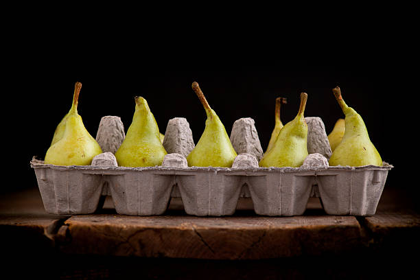 Organic ripe pears stock photo