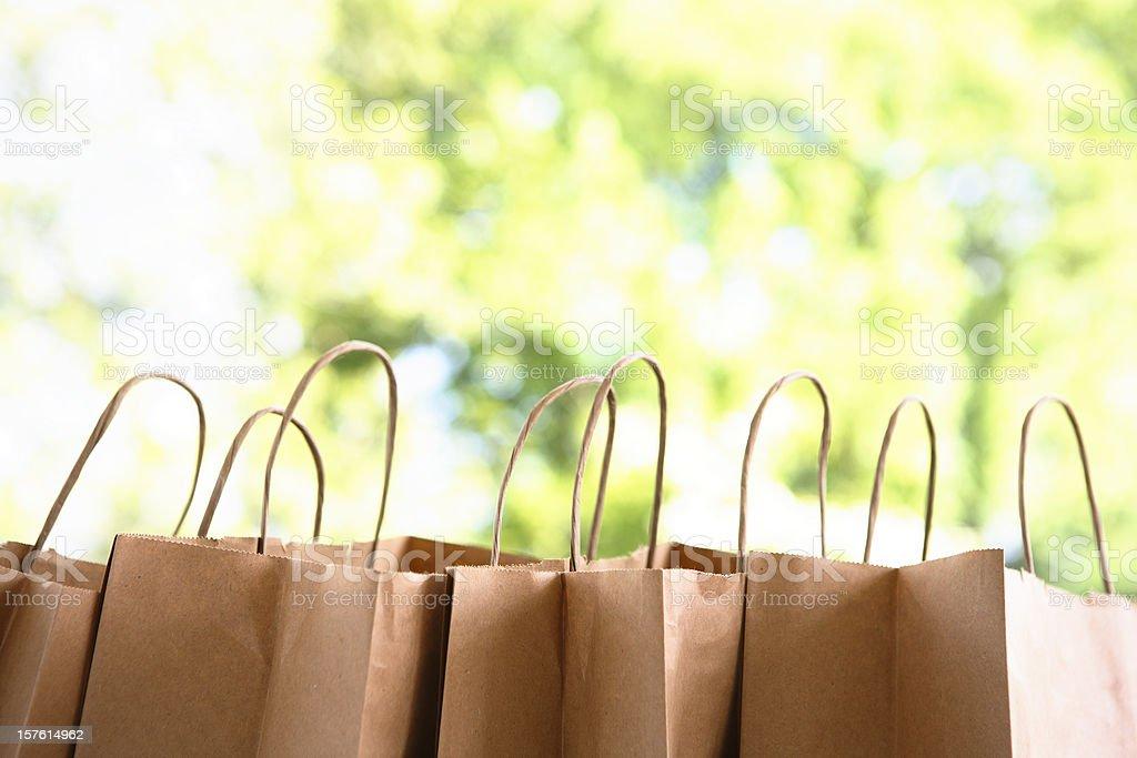 Organic shopping royalty-free stock photo