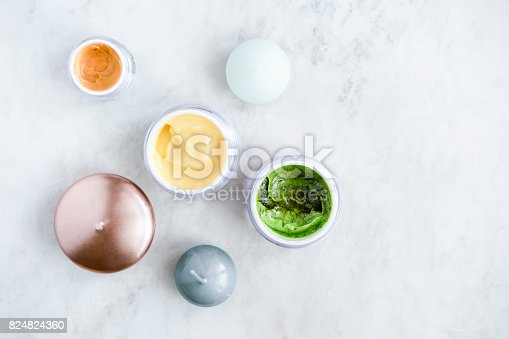 824824368 istock photo Organic skincare cosmetics on white 824824360