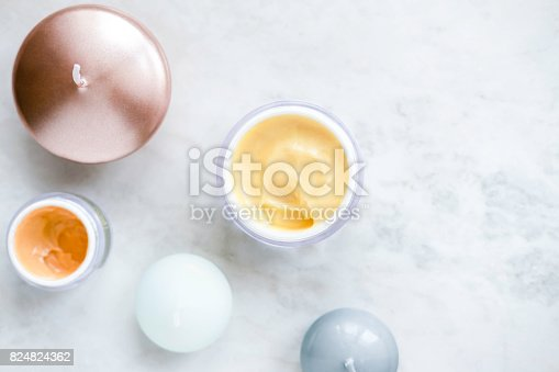 824824368 istock photo Organic skincare cosmetics on white 824824362
