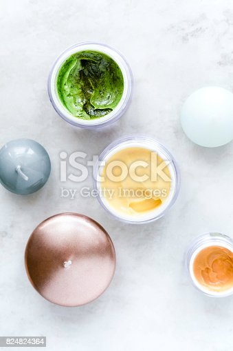 824824368 istock photo Organic skincare cosmetics on white 824824364