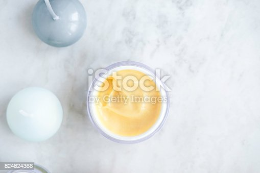 824824368 istock photo Organic skincare cosmetics on white 824824366