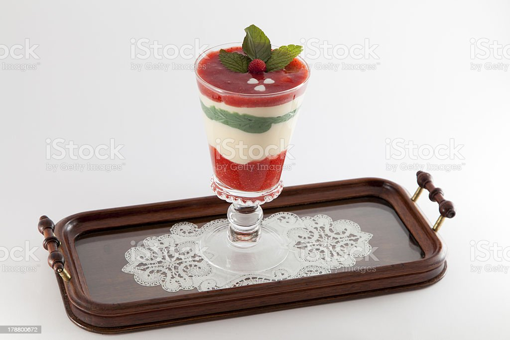 Organic smoothie, juice on tray royalty-free stock photo