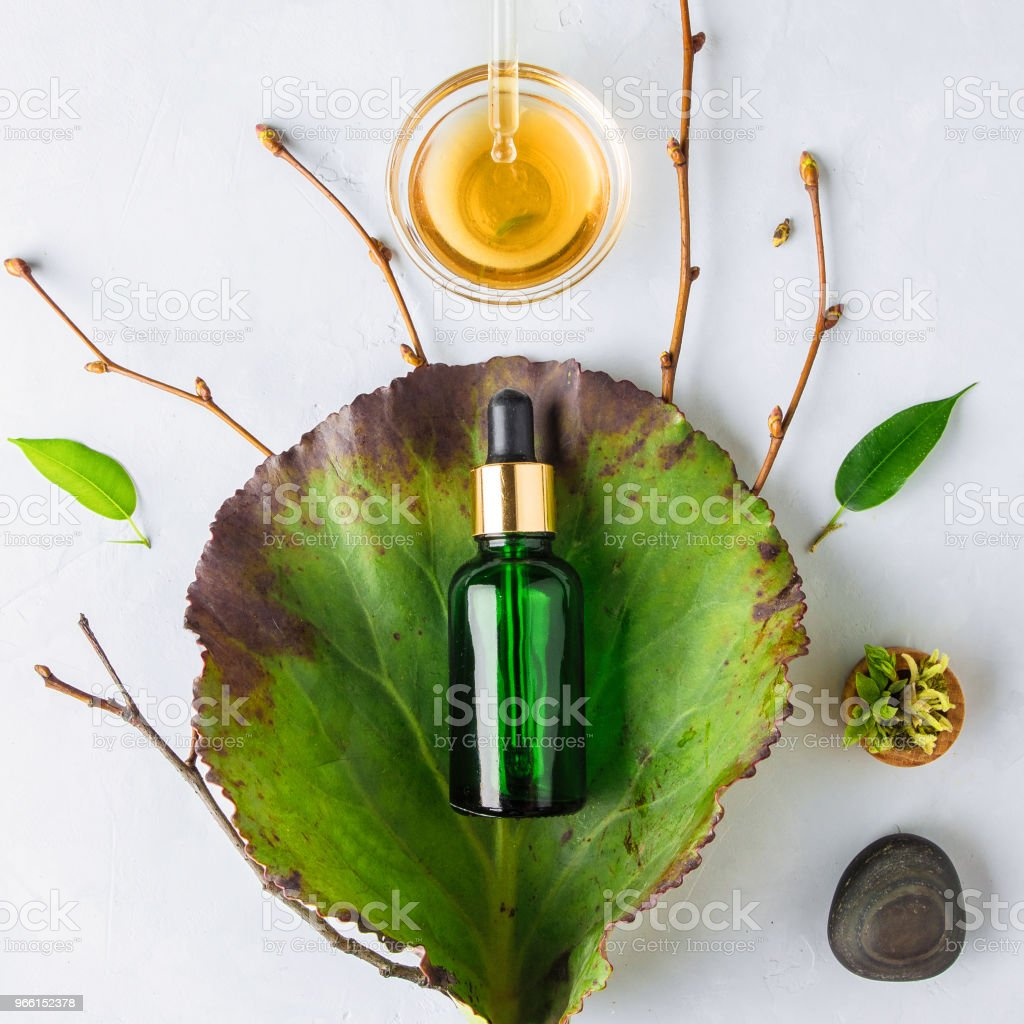 Organic Spa Cosmetic With Herbal Ingredients - Royalty-free Anti Aging Stock Photo
