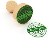 istock 100% organic stamp 1276574055