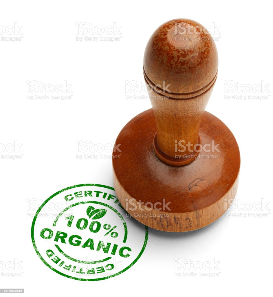 Organic Stamper stock photo