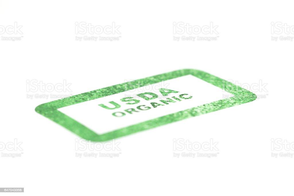 USDA Organic Stamps stock photo