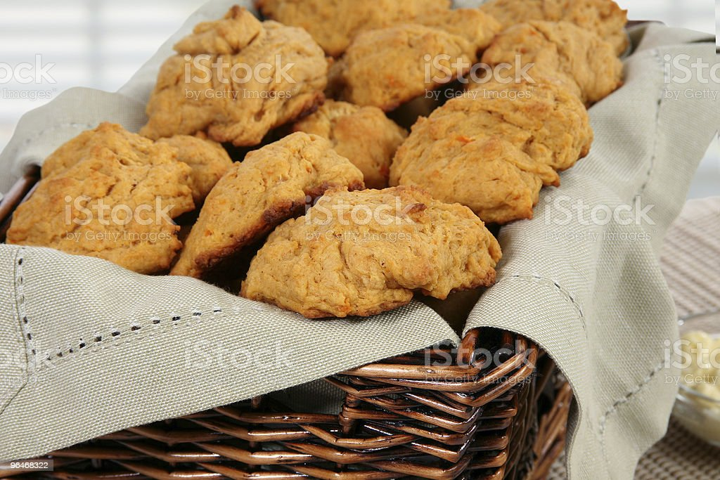 Organic Sweet Potato Biscuits royalty-free stock photo