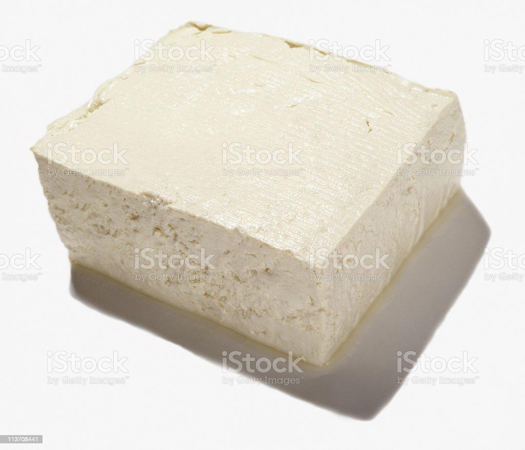 Organic Tofu Isolated on White royalty-free stock photo