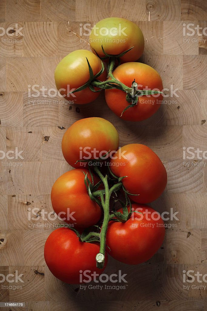organic tomatos stock photo