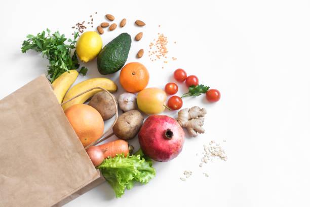 Organic vegan food stock photo