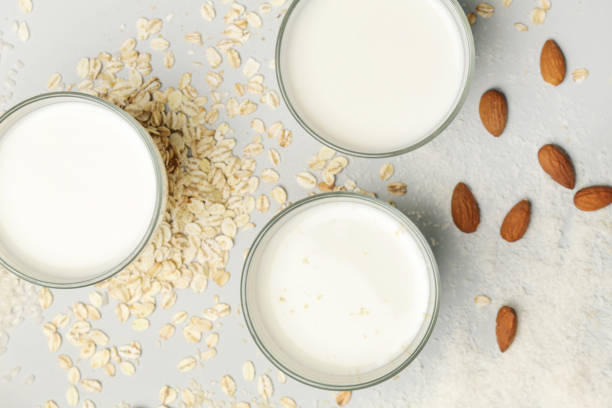 Bio vegane Milch auf Milchproduktion – Foto