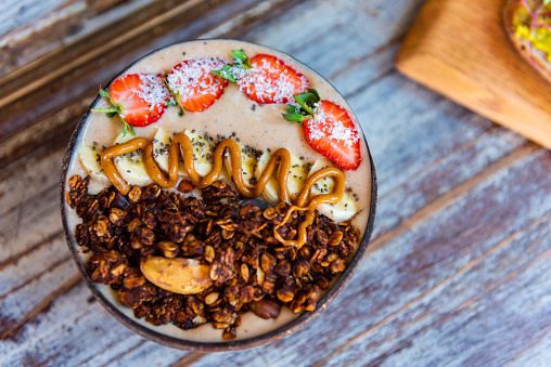 Organic Vegan Smoothiebowls In Cape Town South Africa Stock Photo