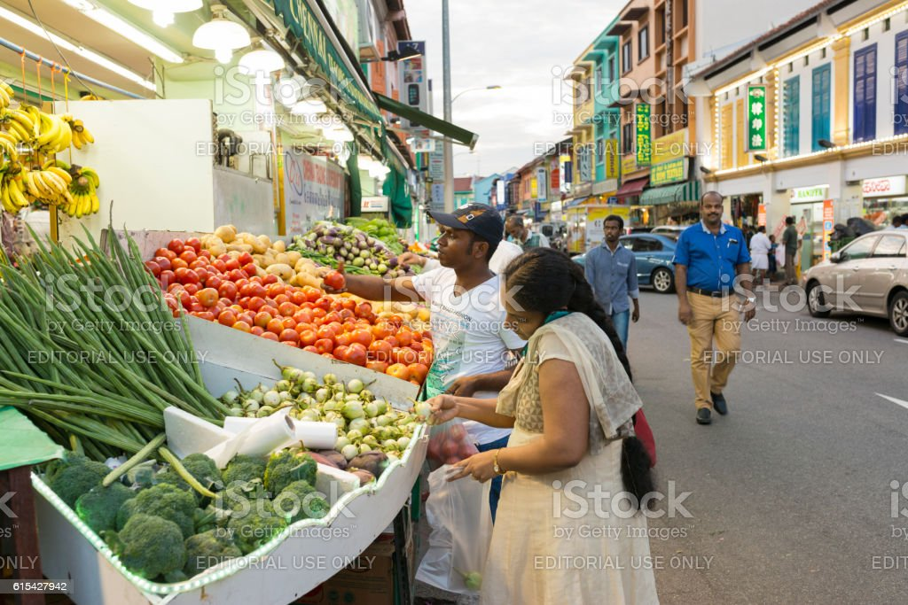 Organic Vegetables at Little India, Singapore stock photo