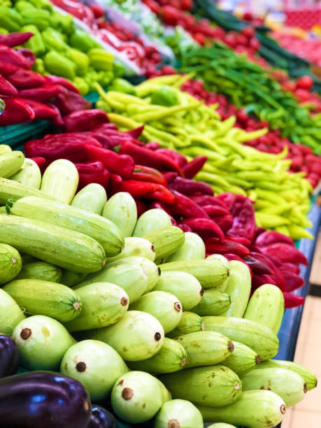 organic vegetables at the market stock photo