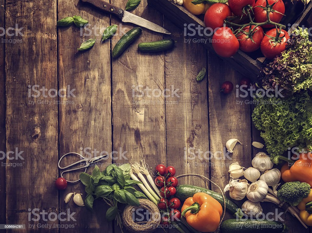 Organic Vegetables Fresh From Market stock photo
