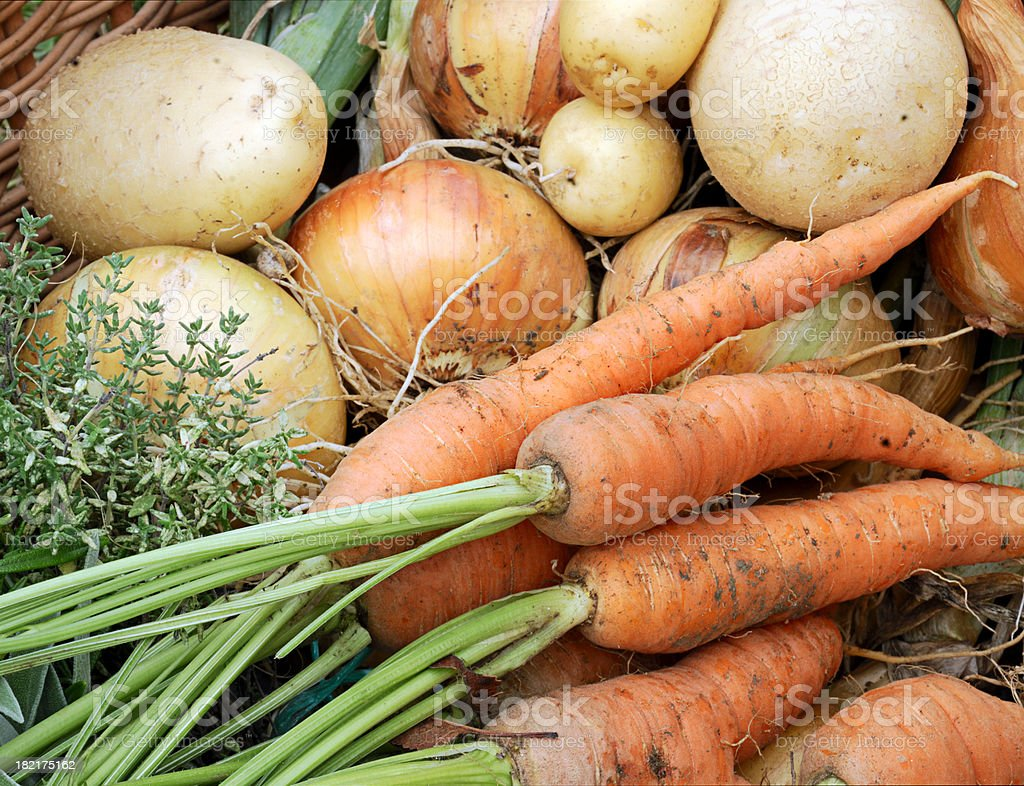 Organic Vegetables  from a Farmers Market stock photo