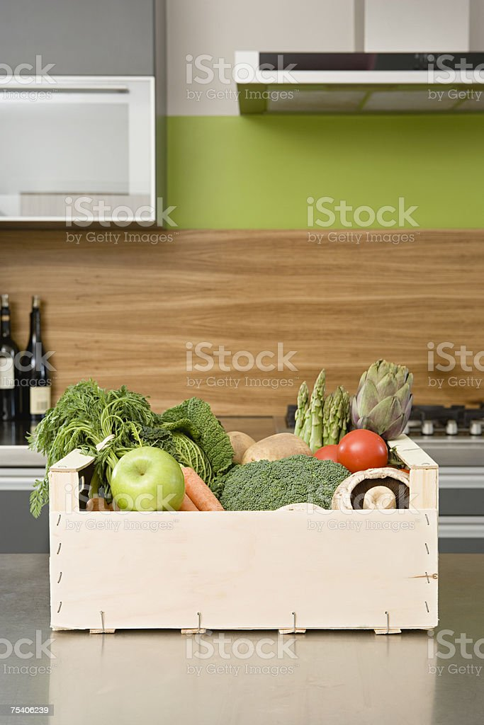 Orgânicos produtos hortícolas foto de stock royalty-free