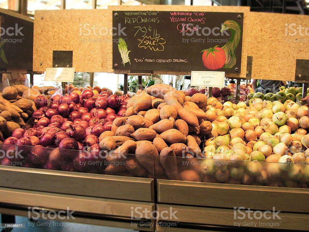 Organic Vegies stock photo