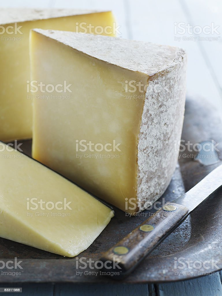 Organic Vermont formaggio Cheddar foto stock royalty-free