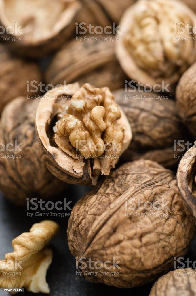 Organic Walnuts bildbanksfoto