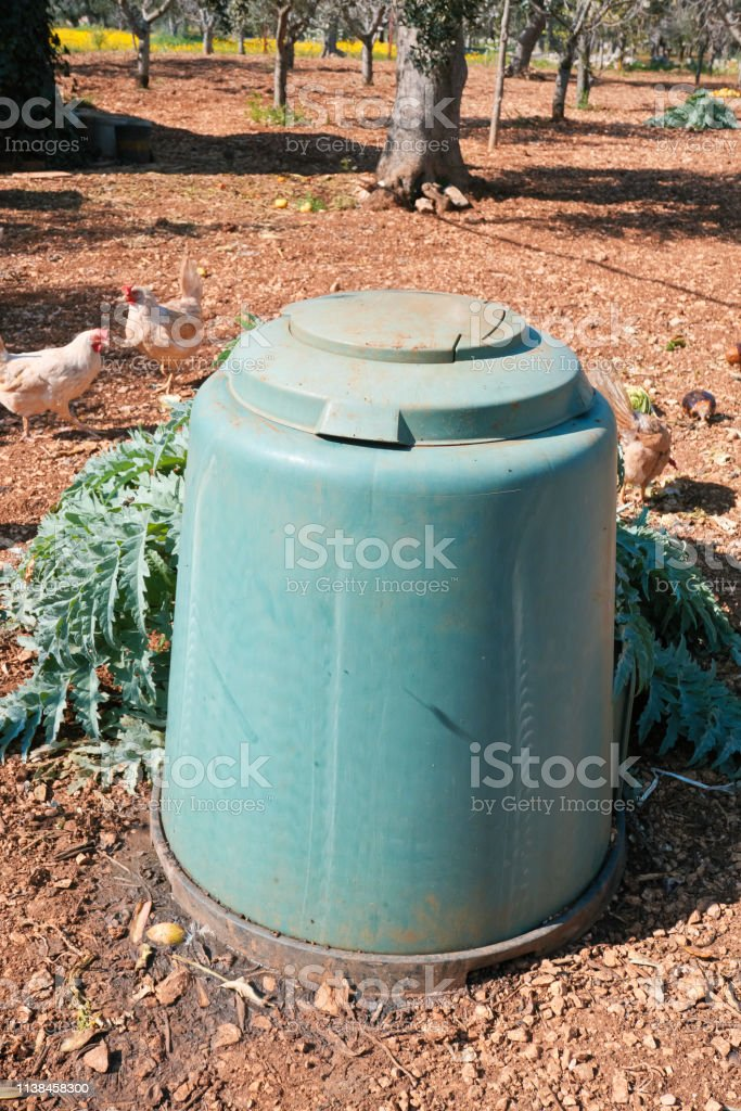bell for composting waste in the agricultural field with free-range...